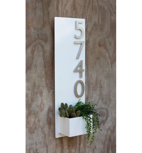 Address Planter Box - PVC Metal Waterproof (long)