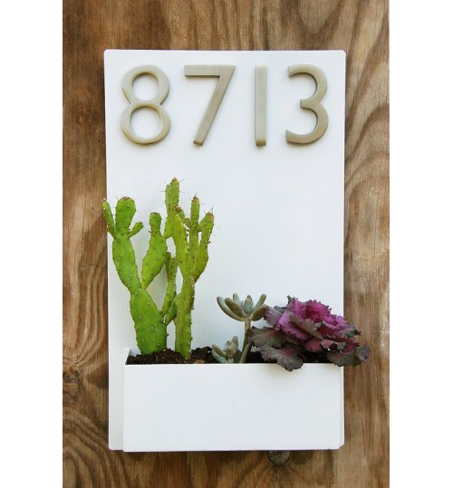 Address Planter Box - PVC Metal Waterproof (wide)