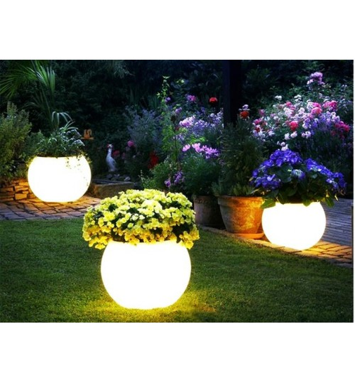 Illuminated Garden Light - Waterproof Rechargable Flower Plant Pot