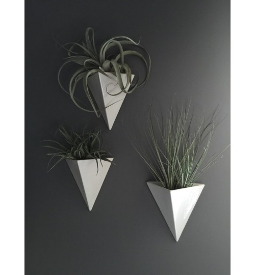 Small PVC Triangle Shape Indoor Outdoor planter withe / multi color