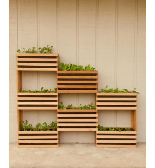 Vertical planter rooftop decor pvc indoor outdoor